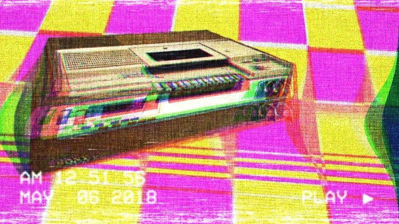 A Betamax player image glitched